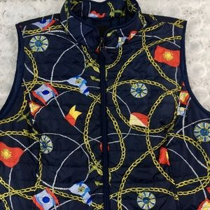 Talbots | Nautical Print Quilted Vest